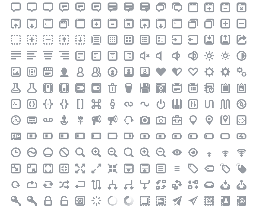 A lovingly designed and crafted suite of 300+ icons for web and user interface design.