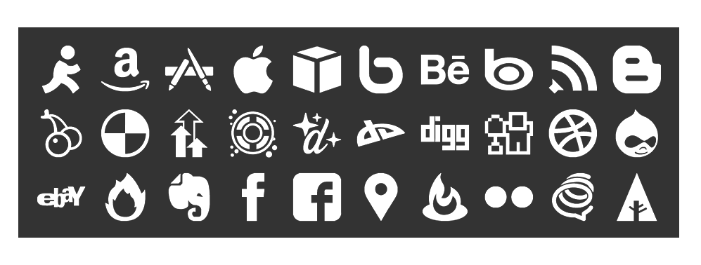 150 monochrome social icons are designed with simplicity in mind. Provided in vector format, they are fully editable and scale to any size smoothly. They are completely free, even for commercial use, redistribution or remixing